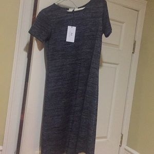 Halston grey black tshirt dress